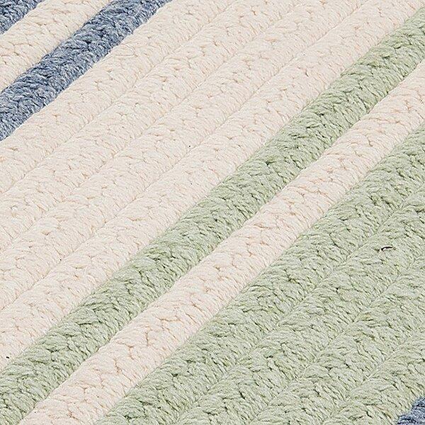 Caitlin Hand-Woven Blue/Beige Area Rug by Latitude Run