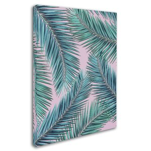 'Palm-Tree' Graphic Art Print on Wrapped Canvas by Trademark Fine Art
