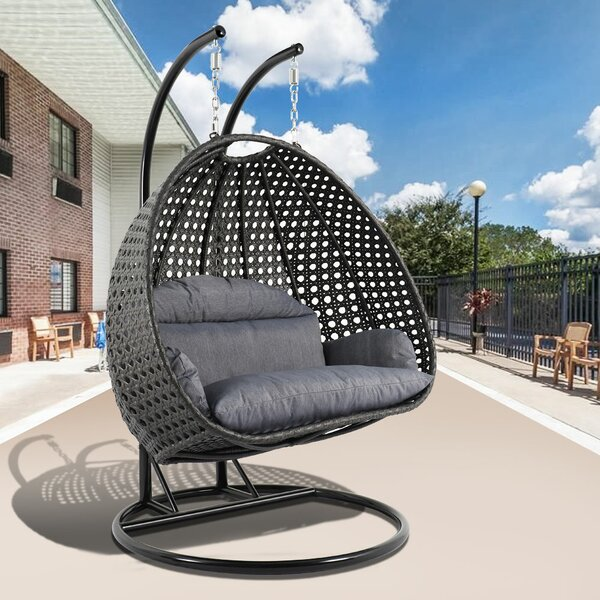 Vaidya Outdoor Cover Double Swing Chair with Stand by Brayden Studio Brayden Studio