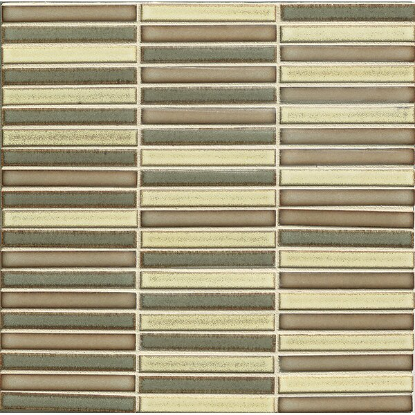 Hinterland 0.5 x 4 Porcelain Mosaic Tile in Frontier Blend by Grayson Martin