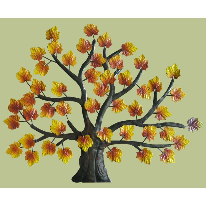 Attractive Autumn Leaves Metal Wall Decor Pattern - Art & Wall Decor ...