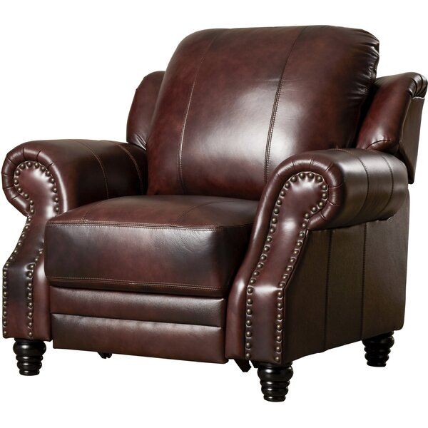 Rosetta Leather Manual Recliner By Darby Home Co
