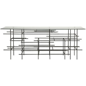 Uptown Metal/Glass Console Table by Noir