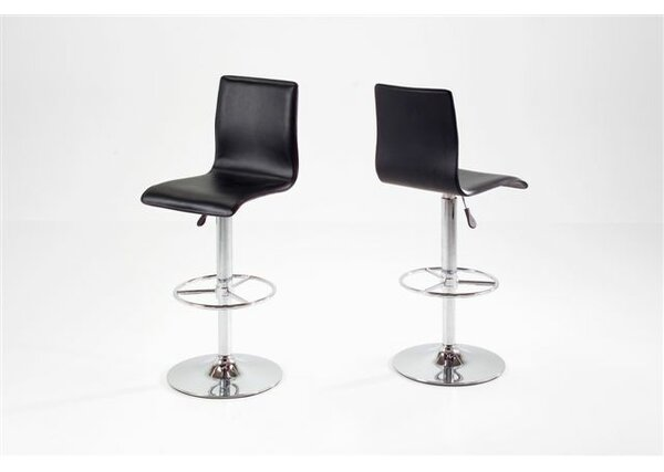 Adjustable Height Swivel Bar Stool by Orren Ellis