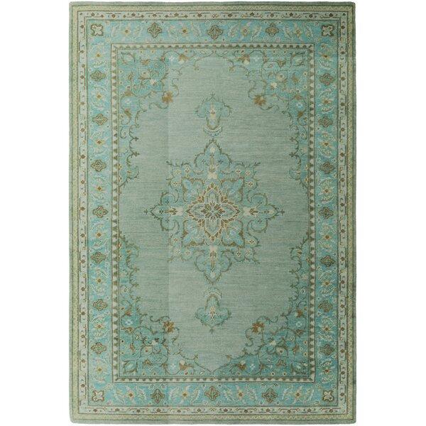 Orrville Green/Beige Tibetan Rug by Darby Home Co