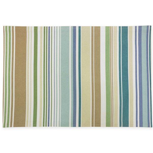 Ava Stripe Indoor/Outdoor Water Repellent Reversible Placemat (Set of 4) by HomeCrate