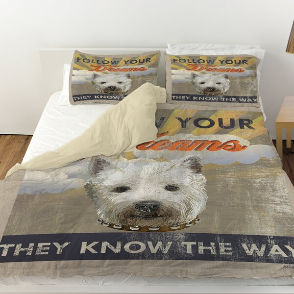 Dog Days - Pek Pup Duvet Cover by Manual Woodworkers & Weavers