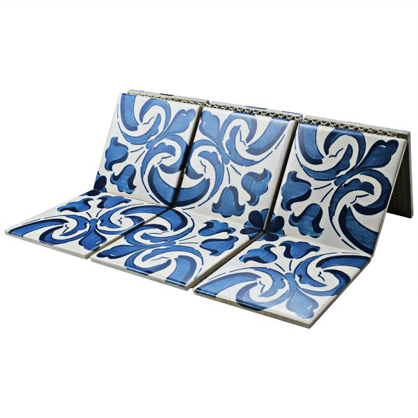 Melody Queen 3.83 x 3.83 Porcelain Mosaic in Blue/White by EliteTile
