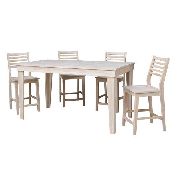 Theodosia 5 Piece Pub Table Set By Highland Dunes