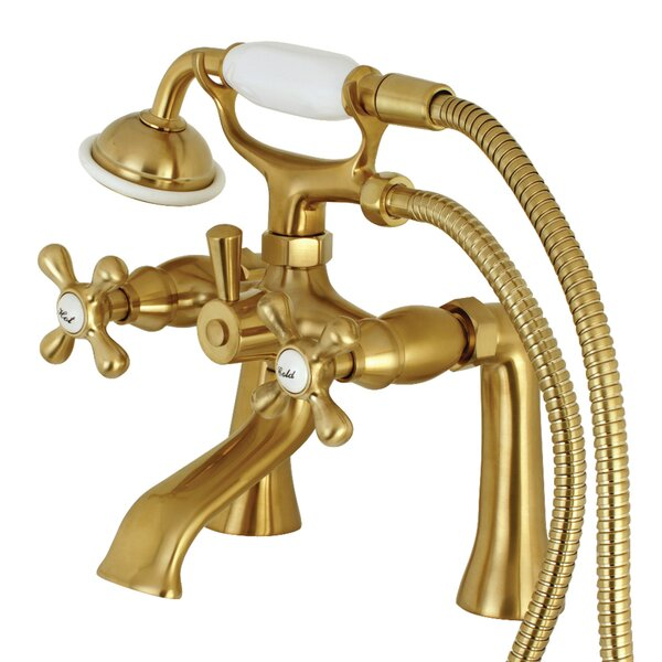 Triple Handle Clawfoot Tub Faucet with Hand Shower by Kingston Brass