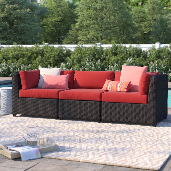 Fairfield Patio Sofa with Cushions by Sol 72 Outdoor Sol 72 Outdoor