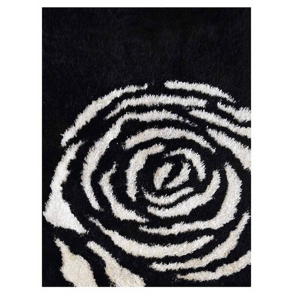 Ry Hand-Woven Black/White Indoor/Outdoor Area Rug by Latitude Run