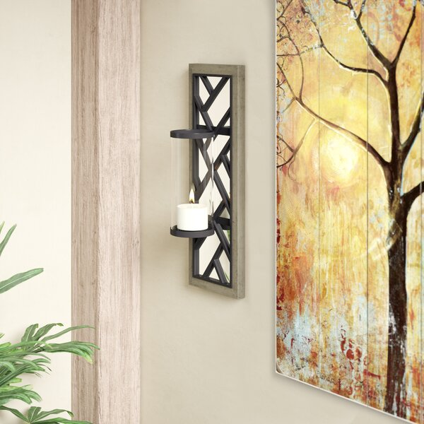 Wood and Metal Sconce by Union Rustic