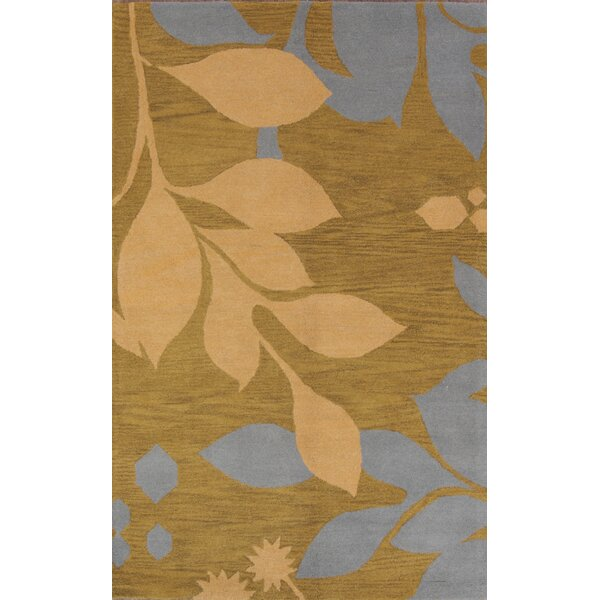 Kathy Agra Oriental Hand-Tufted Wool Green Area Rug by Red Barrel Studio