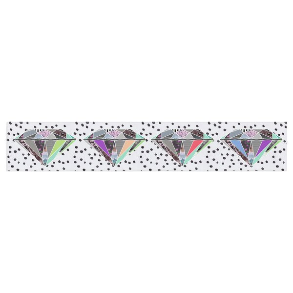 Vasare Nar Polka Dot Diamonds Table Runner by East Urban Home