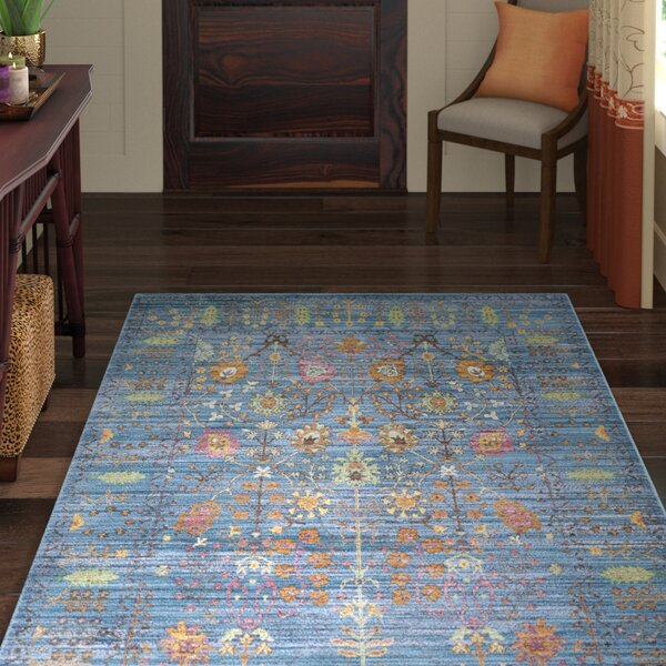 Misael Blue Area Rug by World Menagerie