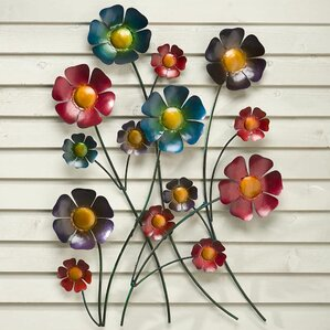 Metal Flowers Wall Decor metal flowers wall art | wayfair