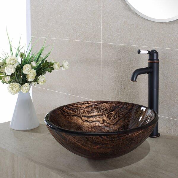 Gaia Glass Circular Vessel Bathroom Sink by Kraus