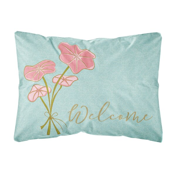 Shrewsbury Bunch of Flowers Welcome Indoor/Outdoor Throw Pillow by Winston Porter