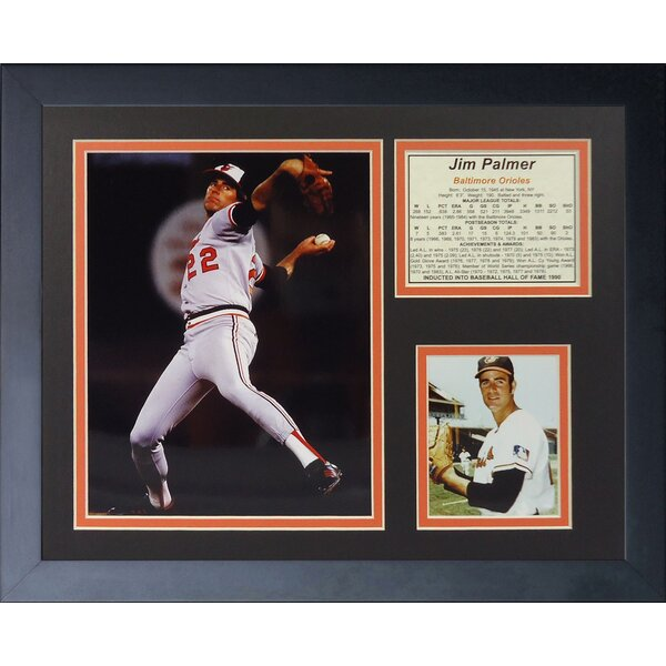 Jim Palmer Framed Memorabilia by Legends Never Die