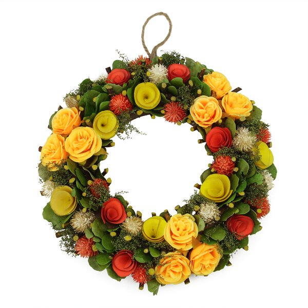 Flowers, Moss and Twig Artificial Floral Spring Wreath by Northlight Seasonal