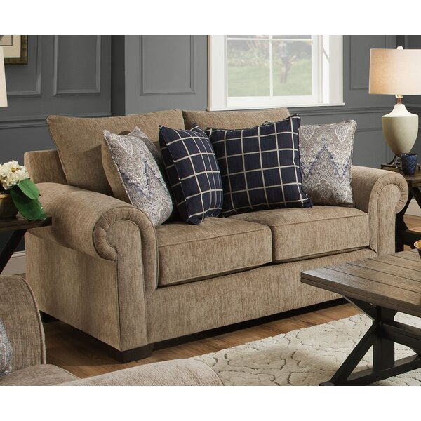 Premium Quality Della Loveseat by Simmons Upholstery by Alcott Hill by Alcott Hill
