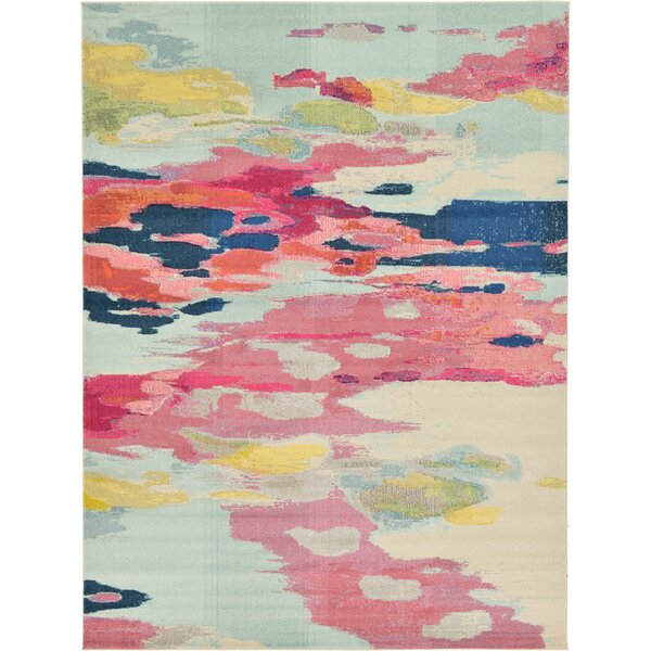 Brister Pink Area Rug by Mercury Row