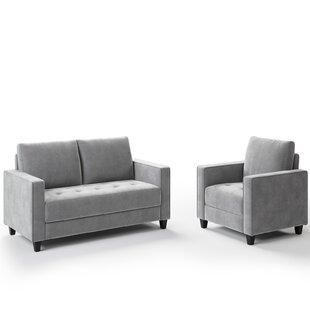 Sofa Set Morden Style Couch Furniture Upholstered Armchair (1+2 Seat) by Latitude Run®