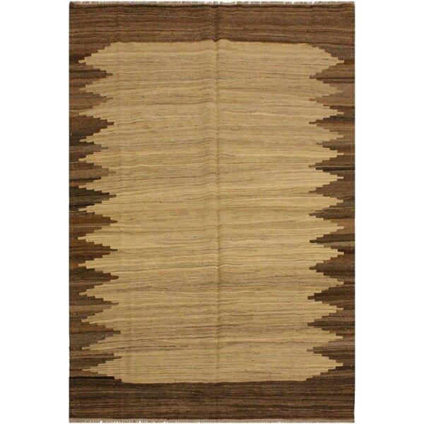 One-of-a-Kind Jorge Handmade Kilim Wool Brown/Beige Area Rug by Isabelline