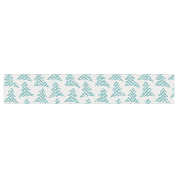 Michelle Drew Herringbone Forest Table Runner by East Urban Home
