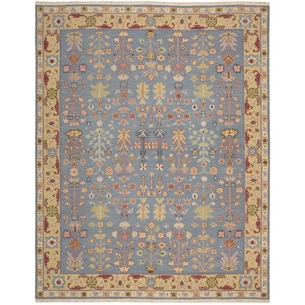 Pierson Hand-Woven Blue/Yellow Area Rug by Bloomsbury Market