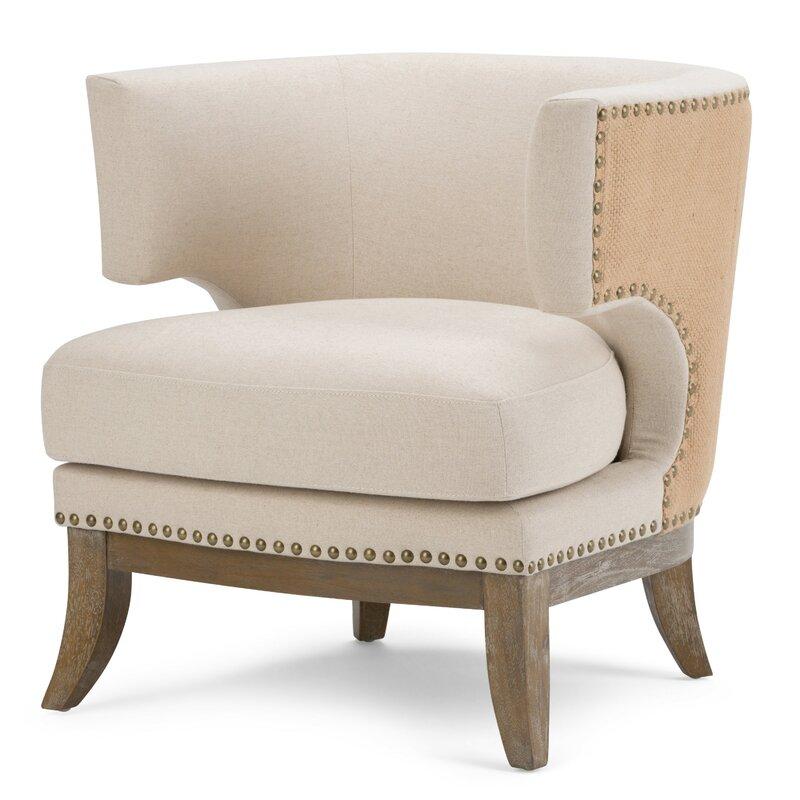 Hoffman Linen Barrel Chair