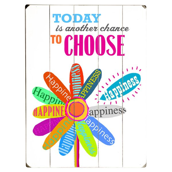 Choose Happiness Graphic Art Print Multi-Piece Image on Wood by Artehouse LLC