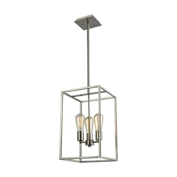 Clementine 3-Light Lantern Chandelier by Breakwater Bay