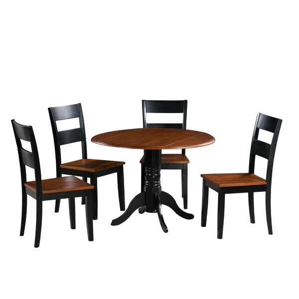 Chesterton 5 Piece Carved Solid Wood Dining Set by Alcott Hill