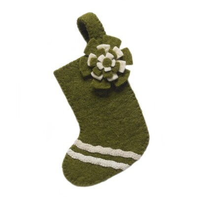 This little stocking looks equally cute on the tree or the table. Can be used as a napkin ring or as little utensil pouches for the special holiday meal. Made of hand felted wool. Arcadia Home felt designs are hand-felted, hand appliqued, and lovingly created from 100% sustainable wool by artisans working in India. The facility where these pieces are produced is an award-winning model of sustainability, which runs on solar electricity, collects rainwater, and recycles water on-site. By collaborating with this artisan group, Arcadia Home is helping to preserve the tradition of felt making in the area, promote eco-friendly business, and provide fair and safe employment for hundreds of artisan felt-makers, sheepherders, and seamstresses. Each handmade Arcadia Home design is as unique as the artisan who created it. Arcadia Home