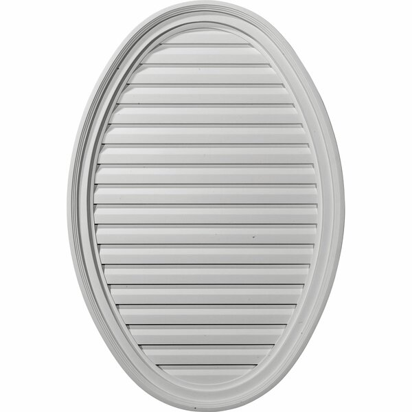 37H x 24 1/2W Vertical Oval Gable Vent Louver by Ekena Millwork