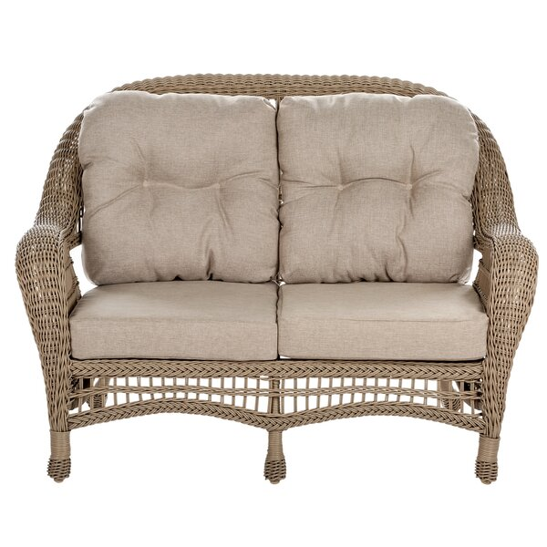Habersham Garden Patio Loveseat with Cushions by August Grove