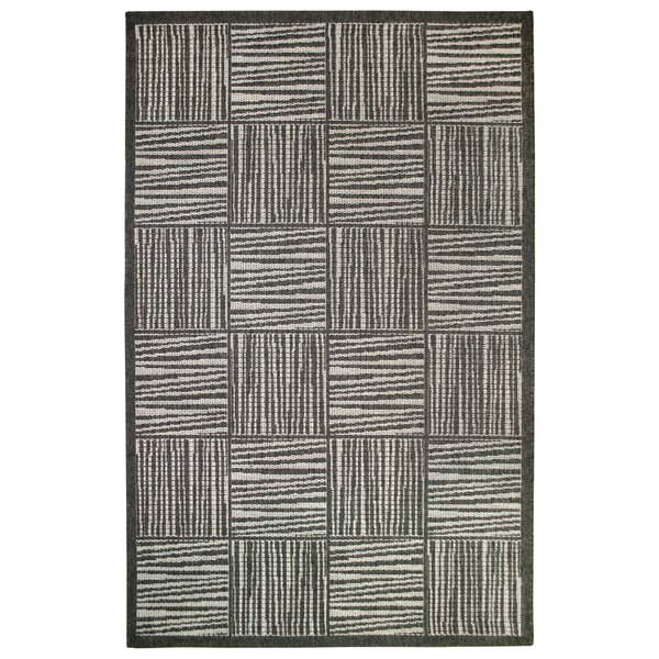 Beck Gray Indoor/Outdoor Area Rug by Ebern Designs