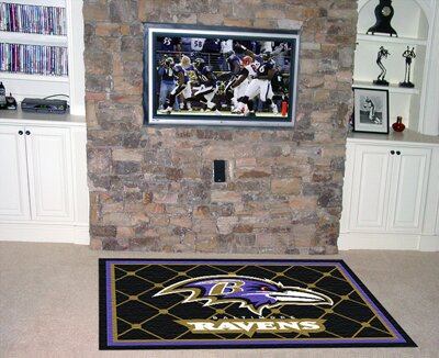 NFL - Baltimore Ravens 4x6 Rug by FANMATS
