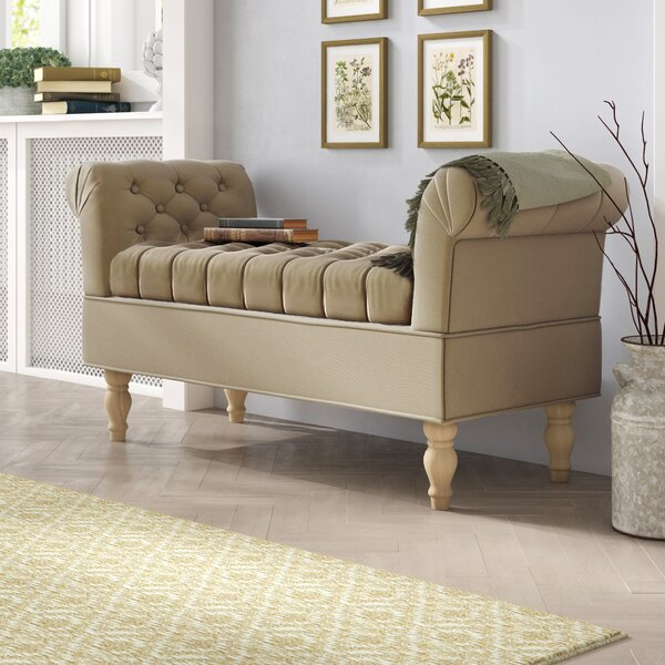 Morel Upholstered Storage Bench by Ophelia & Co.
