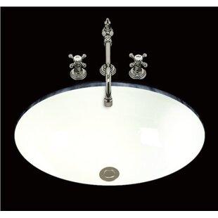 Best Deals Debbie Ceramic Oval Undermount Bathroom Sink with Overflow ByBates & Bates