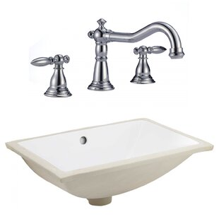 Find the perfect CSA Ceramic Rectangular Undermount Bathroom Sink with Faucet and Overflow ByRoyal Purple Bath Kitchen