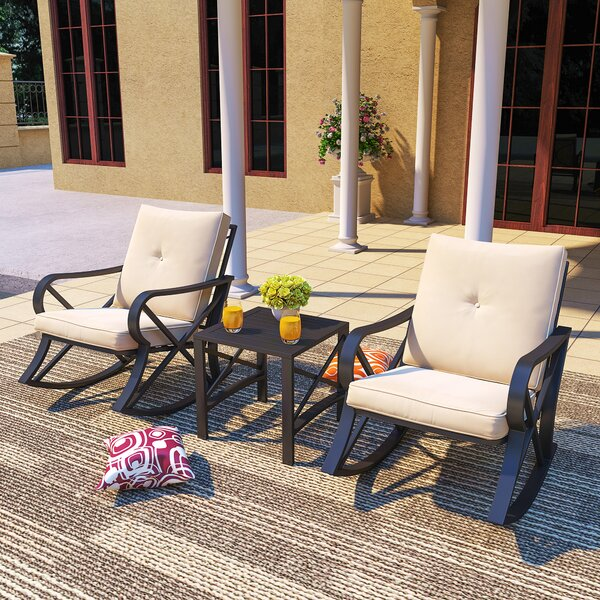 Ephraim 3 Piece Seating Group with Cushions by Longshore Tides Longshore Tides