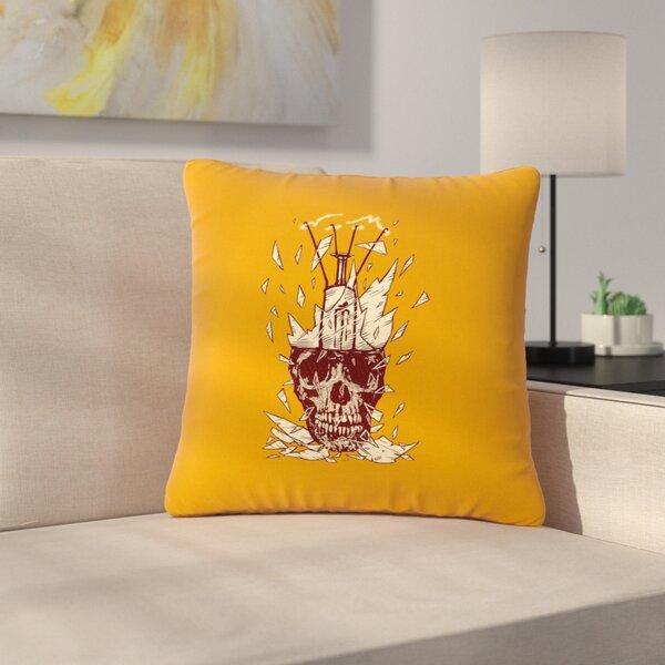 BarmalisiRTB Broken Bulb Outdoor Throw Pillow by East Urban Home