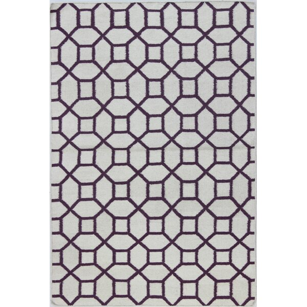 Rockport Ivory/Lilac Area Rug by Bashian Rugs