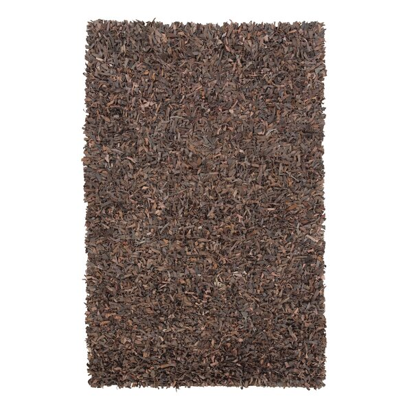 Boutte Hand-Woven Brown Area Rug by Brayden Studio