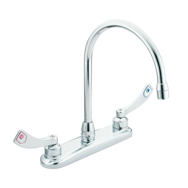 M-Dura Double Handle Kitchen Faucet by Moen