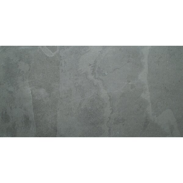 Montauk 18 x 36 Natural Stone Field Tile in Black by MSI