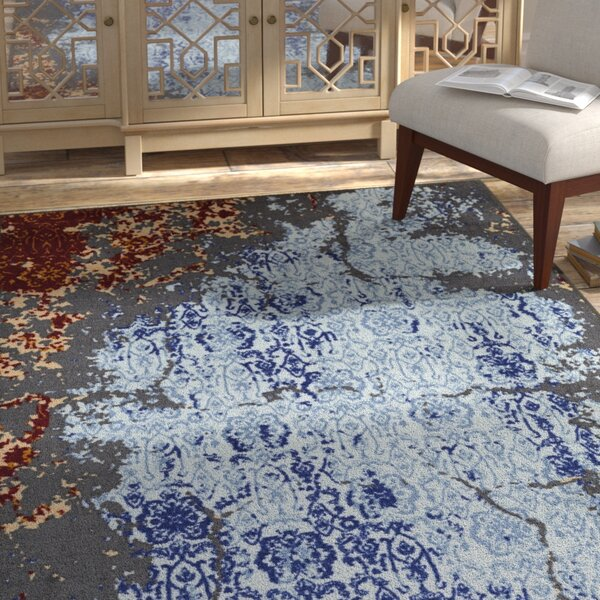 Prasad Blue/Gray Area Rug by Bungalow Rose